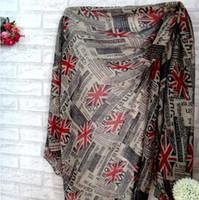 bali flags - New Fashion Newspaper Union Jack UK English Flag Print Scarf viscose cotton voile bali yarn scarf Shawl Wrap