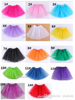 Wholesale baby Tutu Skirt Princess Dance Party Tulle Skirt fluffy chiffon skirt girls Ballet dance wear Party costume Baby girl clothes