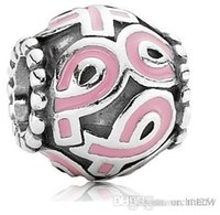 cancer charms - Breast Cancer Awareness Sterling Silver Pink Ribbon Pandora Style Charm Beads Good Gift Orc