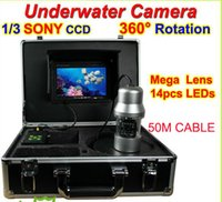 underwater fishing camera - 1 inch SONY TVL CCD LED lights M night vision Underwater fishing video camera fish finder rotable CCTV system Aluminum case