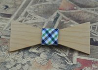 acc check - Cute Tie White Maple No Edge Rectangle Bowknot Fresh Check Cloth Prom Evening Party Bow Tie Leisure Personality Acc Wooden Bowties