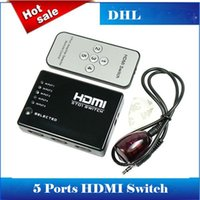 adapter switch box - 5 Port Video HDMI Switch Switcher Splitter For HDTV DVD With IR Remote P