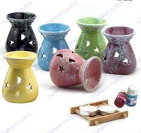 Wholesale Newest Ceramic Fragrance Oil Burners Lavender Aromatherapy Scent Candle Essential Gift In ceramica Candle