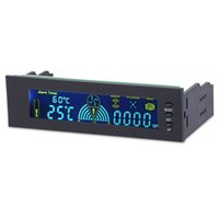 Wholesale 5 Inch Fan Controller Desktop PC Front Control Panel Cooling LCD Temperature Display for Fan