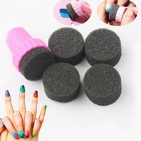 Wholesale 1Pc Nail Art Sponge Stamp Stamping Template Transfer Manicure DIY Tools M01177