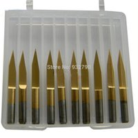 Wholesale 10 x Titanium Coated Carbide PCB Engraving Bit CNC Router Tool Degree mm Tip mm Shank Hot order lt no track