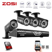 Wholesale ZOSI HD MP P HDMI CCTV System CH Full P AHD DVR Kit P Outdoor Indoor Security Camera System TB HDD Pre installed