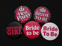 Wholesale Hens Night Bachelorette Party Badge Set Blushing Bride Bride To Be Brooch order lt no track