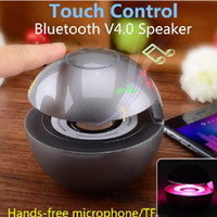 Wholesale Universal BT Mini Touch Control Blueteeth Speakers Multi Color LED Hands free Speakers For Smart Phone Samsung TF card for Android