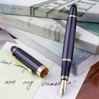 Wholesale pc Jinhao X450 Fountain Pen Black Medium Nib Gold Trim New Hot