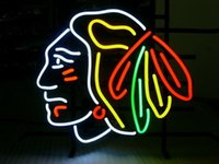 beer business - Business NEON SIGN board For NHL CHICAGO BLACKHAWKS HOCKEY REAL GLASS Tube BEER BAR PUB Club Shop Light Signs quot