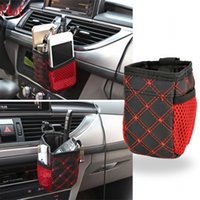 Wholesale Multi functional Mini Car Tuyere Grocery Bags Car Bag Cell Phone Pocket Car Pouch Glove Black Red Car Storage Outlet Car Organizer SV010360