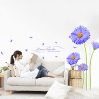 aster plants - Home Decor Art Vinyl Aster Mural Decals Removable Wall Stickers DIY New