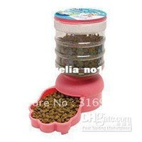 Cheap Wholesale - New arrival ! Pet Dog Cat Automatic Water Dispenser Food Dish Bowl Feeder, capacity 2L