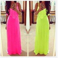 Cheap 2015 New Fashion Style Gallus Sexy Dress For Women Lace Maxi Dress Vest Boho Cocktail Dress