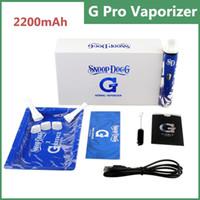pro kit - 2200mAh G PRO Vaporizer blue and white dry herb vapor battery Snoop Dogg G PRO dry herb vaporizer kits vs Titan Titan vaporizer kits