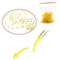 Wholesale 1 Pack100 Dental Disposable Intra Oral tips N1 Yellow Nozzles For Mixing Tip
