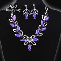 aqua gem dress - Women s Banquet Accessory Silver Purple Synthetic Gem Short Necklace Noble Evening Dress Accessory