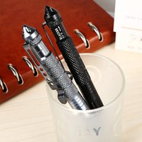 Wholesale Aluminum UZI Tactical Self Defense Pen Cuff Key Glass Breaker Tool