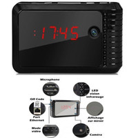night view - 1280x720P HD night vision Wifi Wireless IP Covert Spy Clock Camera Hidden Camera Camcorder hrs mobile computer remote viewing alarm
