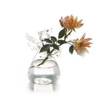 Wholesale 2016 CTransparent Flower Plant Vase Hnadmade Glass Angel terrarium Vase Terrarium Home Office Desk Decor Decoration Gift E440J
