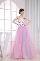 advanced embroidery - Beautiful Sweetheart Aline Princess Lace Up D Floral Appliques Prinred Pink Prom Dresses Spring Advanced Customization