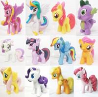 Wholesale 5CM Set My Little Pony Colourful Action Figures Spike Celestia Rainbow Dash Pony Doll PVC Action Figures Toy