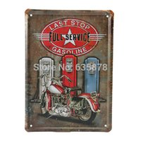 bathroom metal plaque - 15 CM Vintage Metal Wall Sign Motorcycle Gasoline Decor Tin Sign Bar Pub Garage Tin Sheet Plaque Wall Decor Art Poster order lt no track