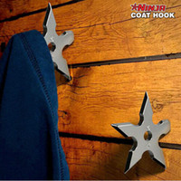 Wholesale 5 Pieces Ninja Throwing Death Star Coat Hook Ninja Star Coat Hook