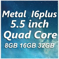 Wholesale Metal HDC Goophone I6 Plus Unlocked Phone inch Android KitKat MTK6582 Quad Core ROM G IOS8 Theme Simulation Touch ID Logo DHL Ship