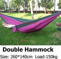Wholesale Double Hammock Camping Survival Hammock Parachute Cloth Portable Double Person Hammock outdoor Leisure