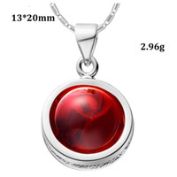 Cheap 2015 Sale Fantasias Rhinestone Rose Gold Plated Blue Red Romantic Valentine's Day Gift 925 Sterling Silver Chinese Jewelry Pendant N936