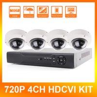 Wholesale HDCVI System CH P CVR Supports MP Real time Recording P Dome HDCVI Camera CCTV HD CVI DVR Kit