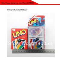 Wholesale Transparent Waterproof plastic UNO H2O Card Game Playing Card USD8 via Fedex UPS DHL TNT