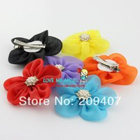 Wholesale Baby girl flower hair clip organza mesh flower hairpin DIY handmade flower hairpin Hair Accessories