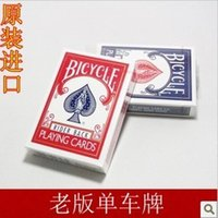 bicycle playing cards lot - old version Bicycle Playing Cards color blue or red magic tricks magic props by CPAM