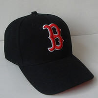 b sox - New arrival classic Boston red sox baseball caps five panel brand hip hop cap swag style fitted hats snapback letter B bones