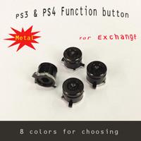Wholesale 4pcs set PS3 PS4 Function Metal Button colors PS3 Function button PS4 function button For exchange
