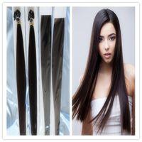 "Cheap 18""-28"" 100G Natural Keratin Capsule Prebonded Flat Tip Hair Extension Brazilian Virgin Human Hair Extensions 100s bag"