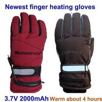 battery heated ski gloves - Hot Newest Winter Warm Hours Electric Heating Gloves Outdoor Sports Battery Self Heated Cycling Ski Heating Glove mAh