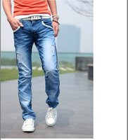 the four seasons - High quality Fashion after pocket grid design The four seasons can wear washed men s casual jeans Boutique jeans Size