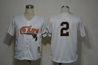 Cheap Men 2# Nellie Fox Jerseys Houston Colts Jersey Cheap And High Quality Embroidery MLB Baseball Jersey