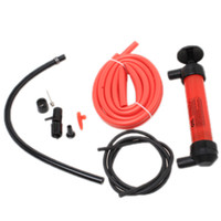 Wholesale 1pc Red Car Oil Extractor High Quanlity Plastic Oil Change Machine Hand Pump Air Inflator Extractor Oil Liquid Fuel EJ678050