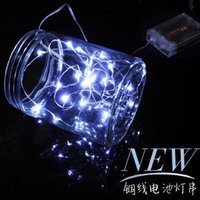 Wholesale 2015 led strings AA Battery LED strip lights Power Operated Copper Wire Fairy led Lights String Christmas Xmas led lights