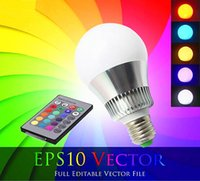 Wholesale New Big W E27 RGB LED Light Color Changing Lamp Bulb V with Remote Control New