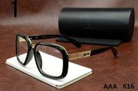 al por mayor gafas de sol convencionales-Top Cazals Gafas de sol 616 retro gran marco gafas de sol Mainstream hombres y mujeres Vintage Cazals grandes marcos Uv evitar espejos rana espejo
