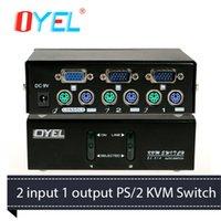 Wholesale 6 PC Port Console Port PS KVM Switches pin Connector Port x1440 VGA Resolution M Bandwidth KVM Swithces EL A