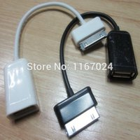 Cheap 200pcs lot USB Connection Kit Host OTG Adapter Cable Hub for Samsung Galaxy Tab 10.1 8.9 3G