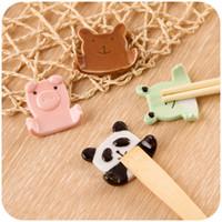Wholesale Japanese style tableware rack ceramic chopsticks holder small animal chopsticks pillow chopsticks