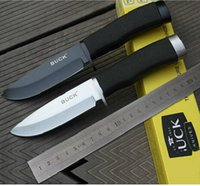 fixed blade knife - 2016 Hot High Quality BUCK brand HRO Knives Fixed Blade Camping Hunting Knife Survival Knife Two Color